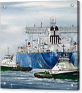 Refinery Tanker Escort Acrylic Print