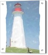 Reflect At Cape George Lighthouse Acrylic Print