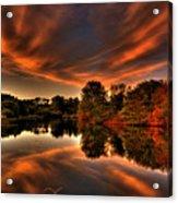 Reflecting Autumn Acrylic Print by Kim Shatwell-Irishphotographer