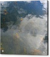 Reflecting Clouds In The Water  Acrylic Print