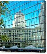 Reflecting Hancock Acrylic Print