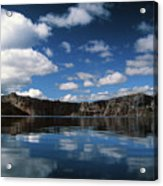 Reflecting On Crater Lake Acrylic Print