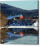 Reflecting On Farms By Connecticut Acrylic Print