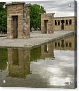 Reflecting On Millennia - Egyptian Temple Of Debod In Madrid Spain  Acrylic Print