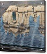 Reflecting On Noto Cathedral Saint Nicholas Of Myra - Sicily Italy Acrylic Print