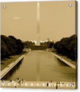 Reflecting Pool Of The Washington Monument Acrylic Print