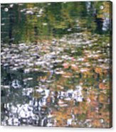 Fall Reflections 4 On Jamaica Pond Acrylic Print