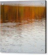 Fall Reflections 6 On Jamaica Pond Acrylic Print