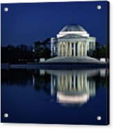 Reflection At Blue Hour Acrylic Print