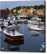 Reflection At Rockport Harbor Acrylic Print