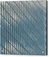 Reflection Clouds On Building Acrylic Print
