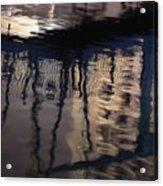 reflection in Eilat marina Acrylic Print