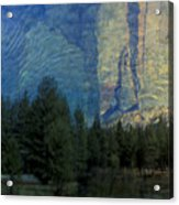 Reflection In The Merced River Acrylic Print