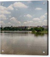 Reflection In Washington Acrylic Print
