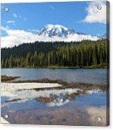 Reflection Lakes In Mount Rainier National Park Acrylic Print