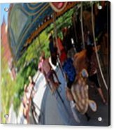 Reflection Of A Merry Go Round Acrylic Print