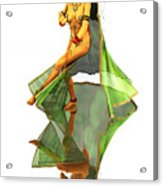 Reflection Of Golden Kali Dancer Acrylic Print