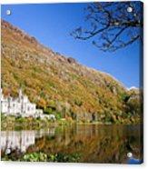 Reflection Of Kylemore Abbey Connemara Ireland Acrylic Print