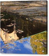 Reflection Of Montgomery Covered Bridge Acrylic Print