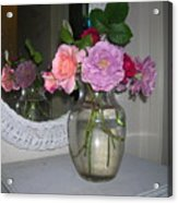 Reflection Of Roses Acrylic Print