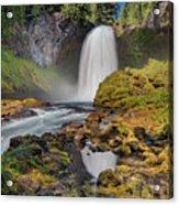 Reflection Of Sahalie Falls Acrylic Print