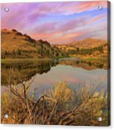 Reflection Of Scenic High Desert Landscape In Central Oregon Acrylic Print