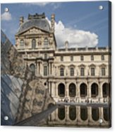 Reflection Of The Louvre 2 Acrylic Print