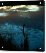 Reflection Of The Sky In A Pond Acrylic Print