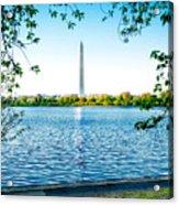 Reflection Of Washington Acrylic Print