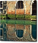 Reflection On Canal In Venice Acrylic Print