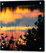 Reflection On The Lake Acrylic Print