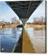Reflection Shadow In Missouri River Acrylic Print