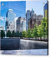 Reflections At 911 Memorial Acrylic Print