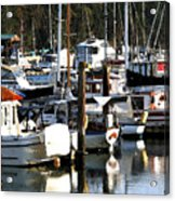 Reflections At Dock II Acrylic Print