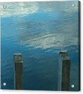 Reflections At Granite Pier Acrylic Print