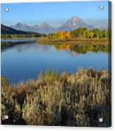 Reflections At Oxbow Bend Acrylic Print