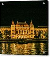 Reflections From Budapest University Acrylic Print
