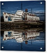 Reflections From The Duke Of Lancaster Ship  Acrylic Print