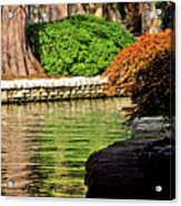 Reflections From The Riverwalk Acrylic Print