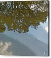 Reflections In A Lake - Poster Edges Acrylic Print