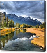 Reflections In Canmore Acrylic Print