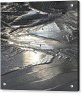 Reflections In Dark Ice 3 Acrylic Print