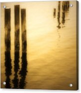 Reflections In Gold Acrylic Print