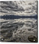 Reflections In Gray Acrylic Print
