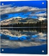 Reflections In Lac Beauvert Acrylic Print