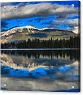 Reflections In Lake Beauvert Acrylic Print