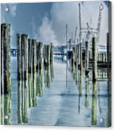 Reflections In The Marina Acrylic Print