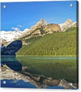 Reflections In The Water At Lake Louise, Canada Acrylic Print