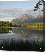 Reflections Lake Pioneer Peak Alaska Acrylic Print
