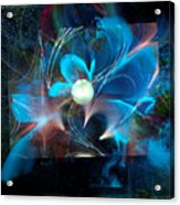 Reflections Of A Flower In The Moonlight Acrylic Print